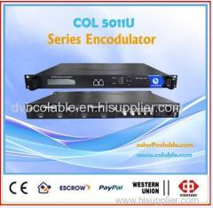 2 CH mpeg2 h.264 hdmi encoder to dvb-s/S2 modulator
