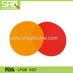 High quality silicone round shape mat