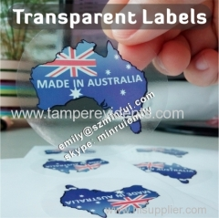 Good printing quality transparent vinyl stickers