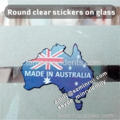 custom transparent adhesive label printing from China