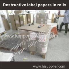 ultra destructible vinyl film label material