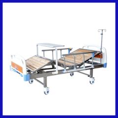 Manual 4 crank wooden hospital bed trapeze