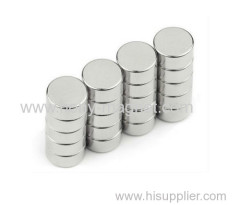 permanent industrial N35H neodymium disc magnets