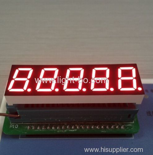 Super Red 0.56 5 Digit 7 segment led display common cathode for Instrument Panel