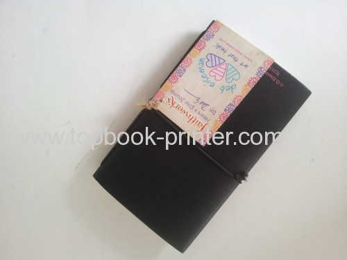 Custom cardboard cover pocket heart&soul journal diary printed for churches