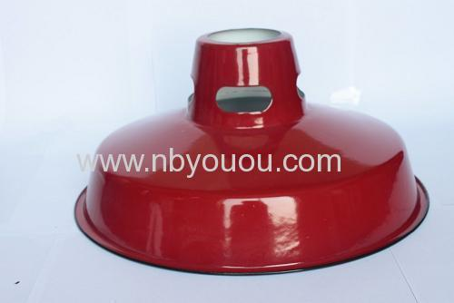 quality guarantee red enamel lamp shade