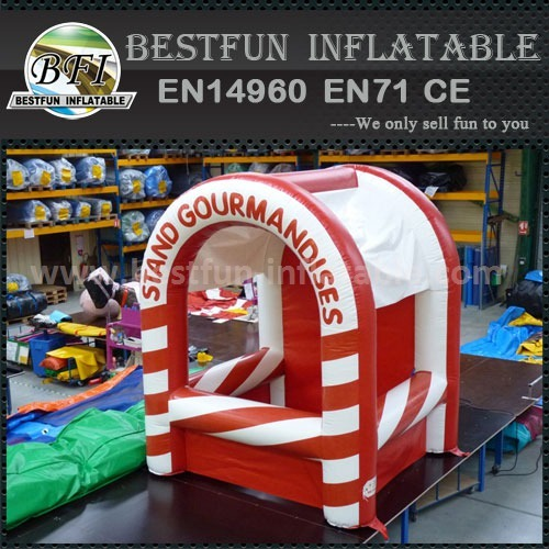 Easy build inflatable booth tent