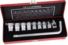 10 PCS SOCKET SET 1/2""