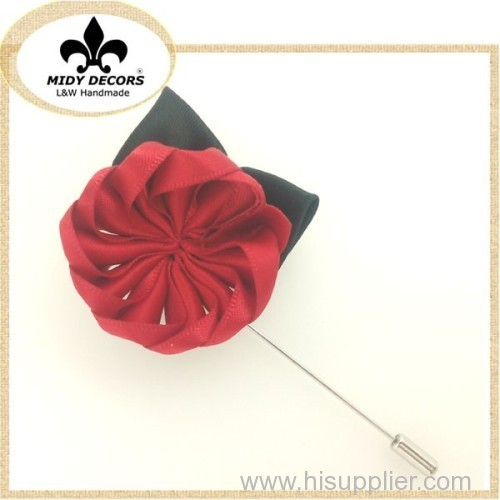 Fabric flower brooch M-001