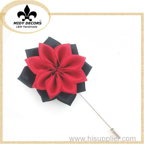 Red Black flower brooch pin for neckwear ornaments