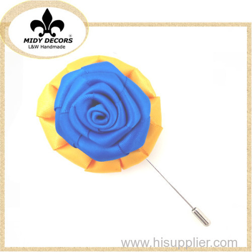 Men's suit rose flower brooches pin