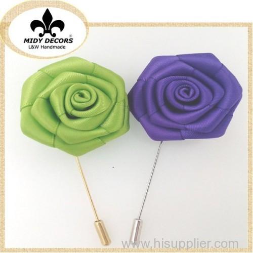 Rose flower brooch pin