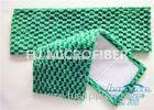 Green Flat Jacquard Microfiber Fabric Dust Mop For Hardwood Floors 5 x 24