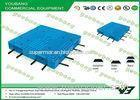 Recycled HDPE Gridding Heavy duty plastic pallet with steel tube Single faced RoHS
