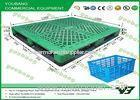 Single Faced Heavy Duty Plastic Pallets for rack , stacking use PP or HDPE pallets