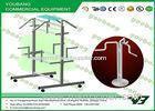 Customized stainless steel free standing garment rack , retail clothing racks