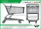 160L Metal Market shopping trolley / Colorful Shopping Cart With Seat Board