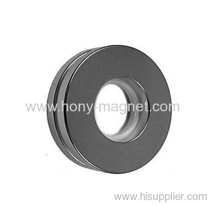 coated zinc&thin neodymium ring magnetic products