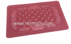 Rubber backing Polyester Embossed funky door mats