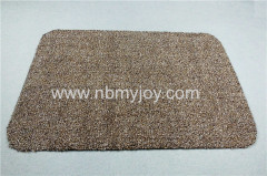 Polyester & Cotton Super Absorbent Doormat Brown