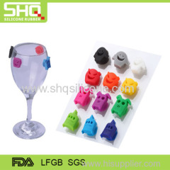 Colorful silicone glass cup