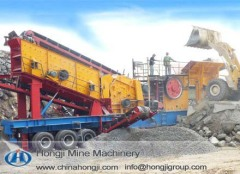 Portable rock Crushing Plant mobile jaw crusher