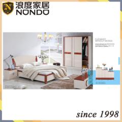 Bedroom wardrobe design in sliding door MDF bed 5202