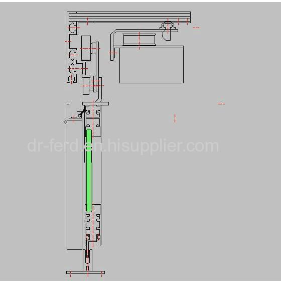 Curved Sliding Door System For Entrance Door