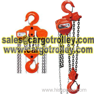 Manual chain hoist manual instruction