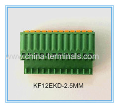 28-16AWG Female 125V 4A Pluggable terminal block connectors for the global market