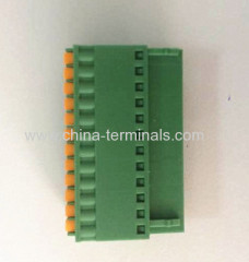 China Pluggable Terminal Block pitch 3.5/3.81MM 300V 8A Female connector