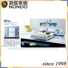 Bedroom wardrobe designs MDF bed 5132