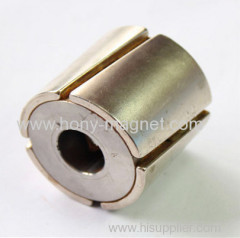 rare earth neodymium arc magnet for motor and lifting