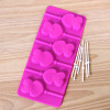 2015 food grade 8 cavity silicone ice lollypop mold with stick in cream tools