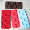 2015 food grade 8 cavity silicone ice lollypop mold flower shape with stick in cream tools