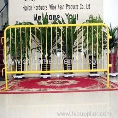 Rimovibile piedi piatti 1.1mx 2.5m folla barriera di controllo colore giallo polvere pedonale rivestito barriera di
