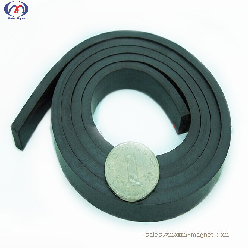 Magnetic rubber strip