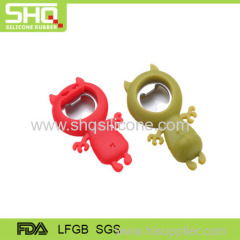 Fashionable cute animal silicone bottle opener