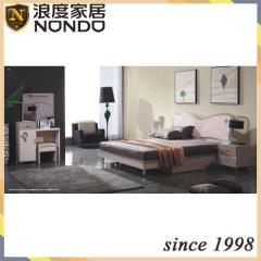 MDF furniture bedroom sets double bed 7801