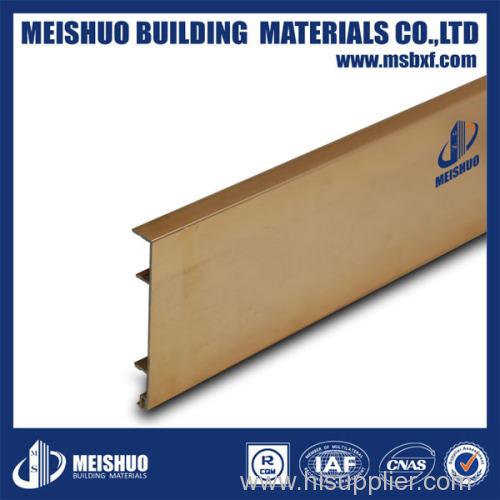 Aluminum skirting board for wall