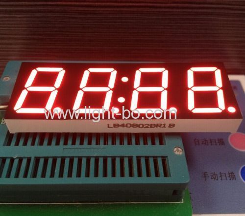 4 digit common Anode 0.8-inch 7 segment LED Clock Display for gas oven