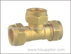 Compression Fitting Equal Tee Fitting Pneumatic Fitting