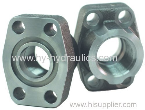 Carbon steel NPTF hydraulic bolt flat face flange