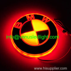 New Car Accessories For A3 Q5 18cm X 5.8cm 4D Led Car Logo Lamp Auto Led EL Emblem Lamp Rear Logo Badge Light Decorative