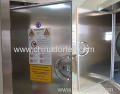Stainless Steel MRI shileding Doors with Bronze Tape