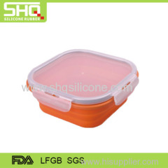 Square shape 100% food grade silicone preservation box