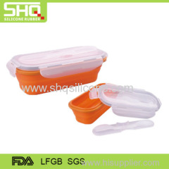 100% food grade silicone folding lunch box