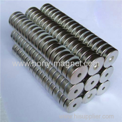 big round disc shape motor neodymium magnet with ni-coated