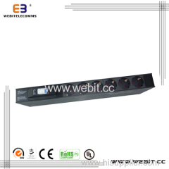 1U inch Germany PDU with 1P Circuit breaker