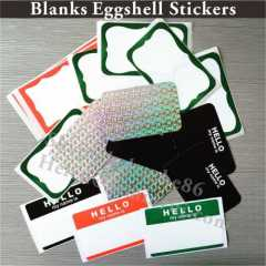 blanks eggshell stickers manufacturer custom with design